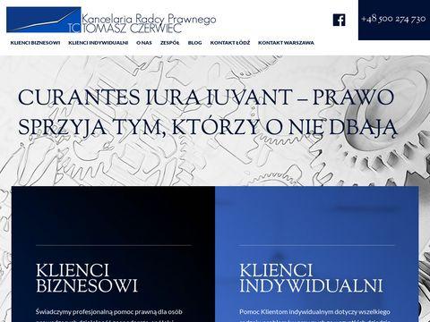 Tczerwiec.pl radca prawny Łódź
