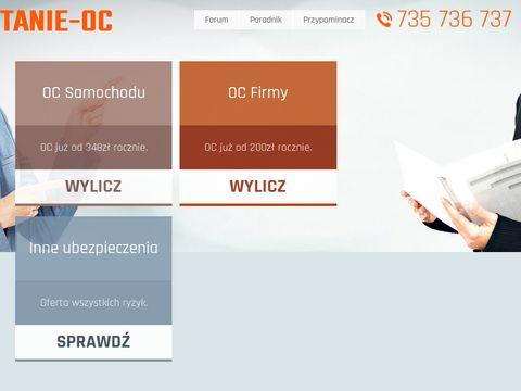 Tanie-oc.pl ubezpieczenia