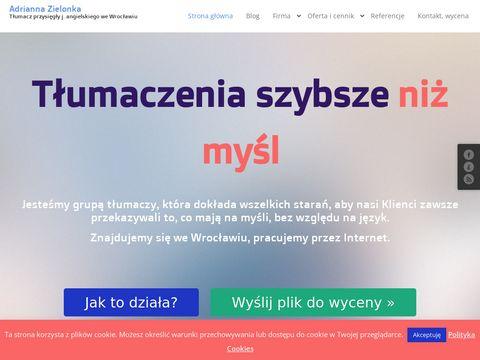 Tlumaczenia-wroclaw.com z polskiego na angielski