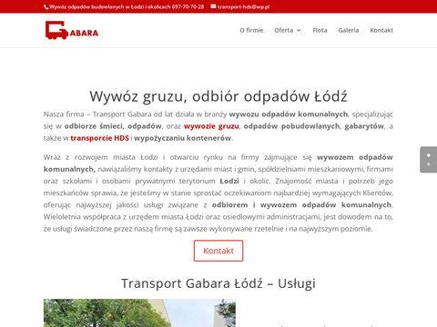 Transport-gabara.pl wywóz ziemi mebli