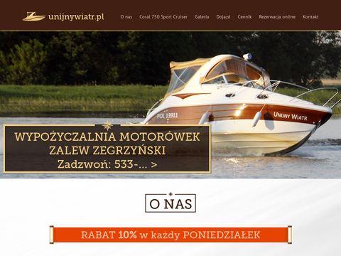 Unijnywiatr.pl motorówka Zegrze