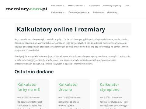 Rozmiary.com.pl tabele