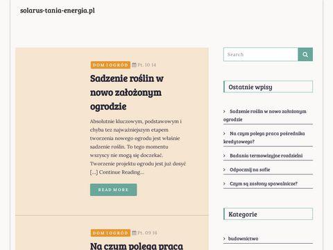 Solarus-tania-energia.pl Bateria słoneczna