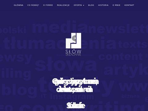 Slowskladanie.pl pisanie tekstów na stronę