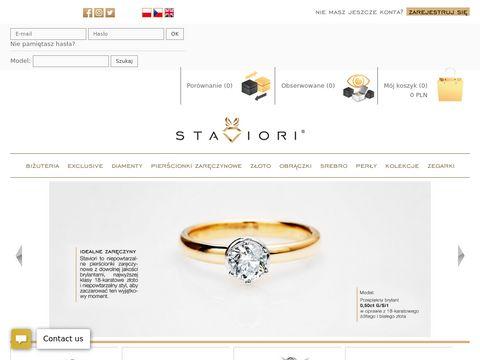 Staviori.pl pierścionki zaręczynowe z brylantem