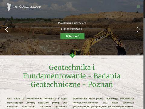 Stabilnygrunt.pl badania geologiczne Wielkopolska