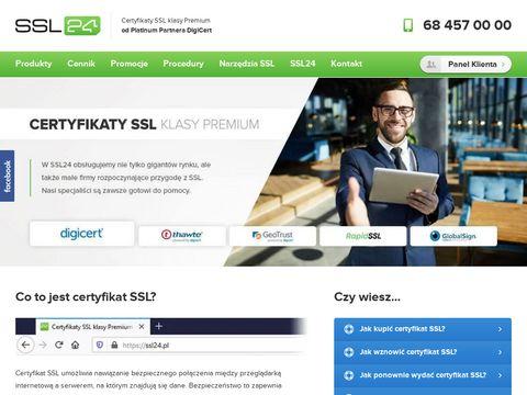 Ssl24.pl certyfikaty Thawte