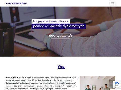 Szybkiepisanieprac.pl prace magisterskie