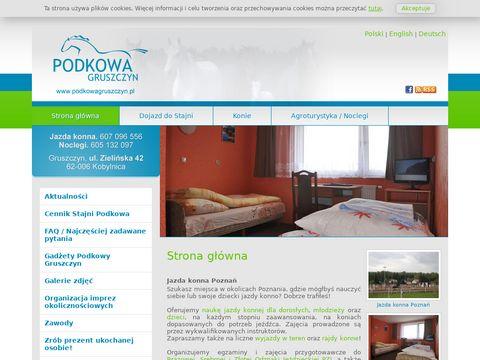 Podkowagruszczyn.pl agroturystyka koło Poznania