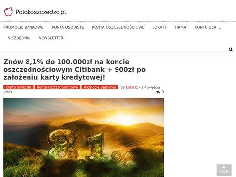 PolakOszczedza.pl - promocje bankowe