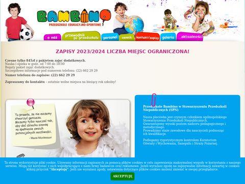 Bambino - przedszkole prywatne Warszawa