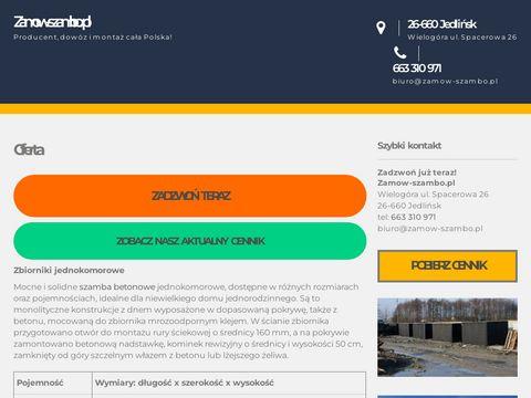 Zamow-szambo.pl dowóz i montaż