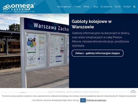 Omega System gabloty informacyjne