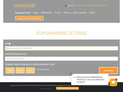 Gwarancje24.pl wadium online