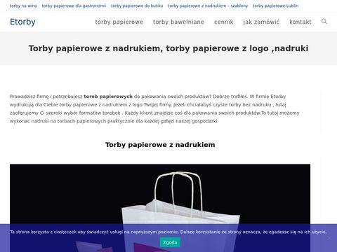 Etorby.eu papierowe z nadrukiem