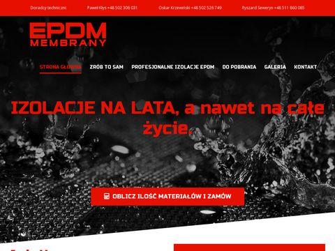 EPDM Membrany uszczelniające na dach