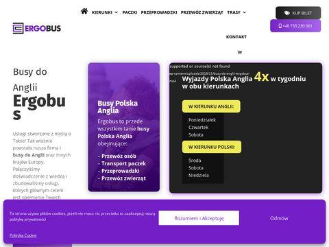 Ergobus.eu przeprowadzki Anglia Polska