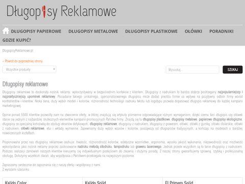 Dlugopisyreklamowe.pl metalowe z nadrukiem