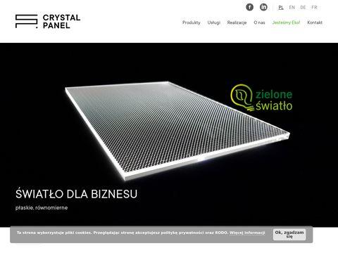 Crystal Panel grawerowanie laserowe Poznań
