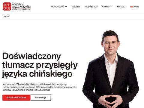 Baczkowski.pro tłumaczenia chińskiego