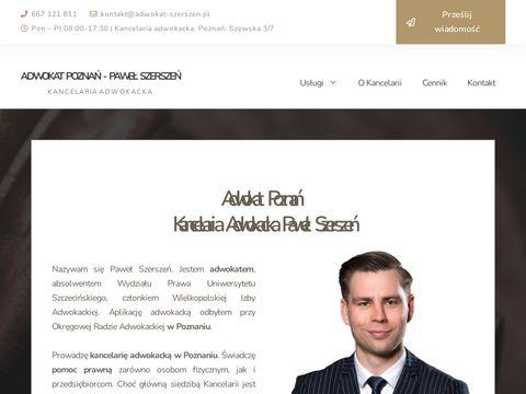 Adwokat-szerszen.pl prawnik Poznań
