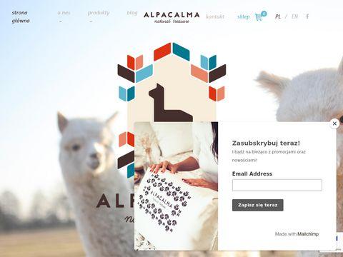 Alpacalma.pl kołdry z wełny alpaki