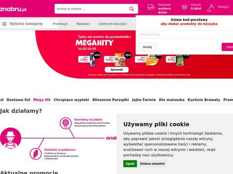 Anabru.pl zakupy spożywcze online