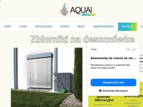 Aquai.pl naziemne zbiorniki na deszczówkę