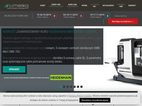 Numerika.pl kurs CNC od podstaw