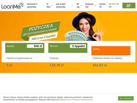 Loanme.pl pożyczka online raty
