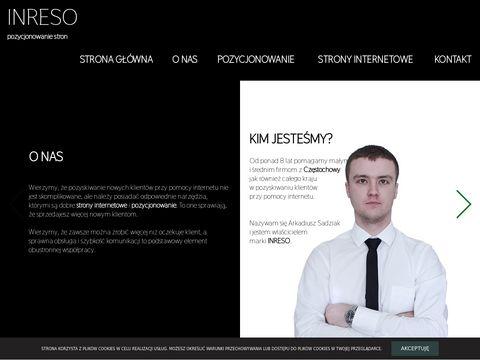Inreso.pl projektowanie stron Częstochowa