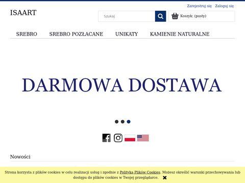Isaartjewels.com wisiorek srebrny z bursztynem