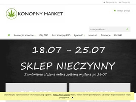 Konopnymarket.pl olej z CBD sklep