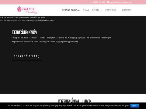 Onyxxwedding.pl fotograf ślubny Kraków