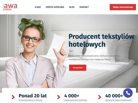 AWA Kraków pościele tekstylia hotelowe