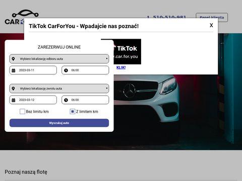 Carforyou.com.pl wypożyczalnia aut z Łodzi