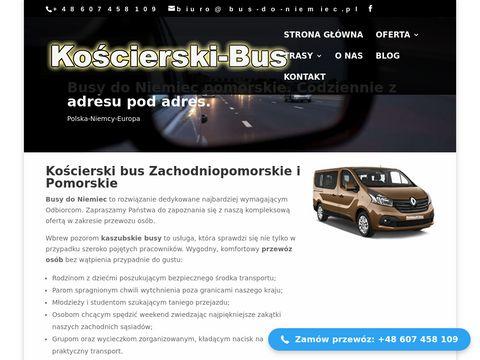 Kościerski bus przewozy do Niemiec