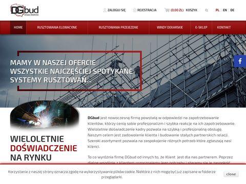 Dgbud.pl rusztowania budowlane elementy