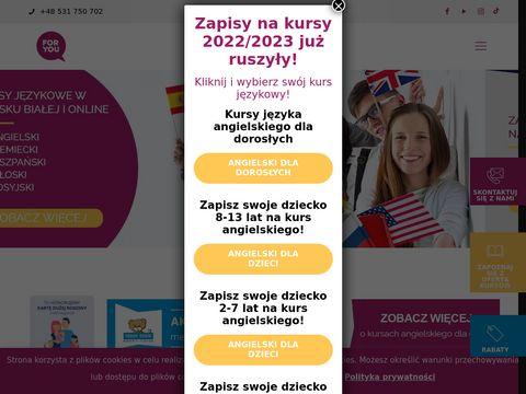 Foryou.edu.pl szkoła językowa Bielsko-Biała