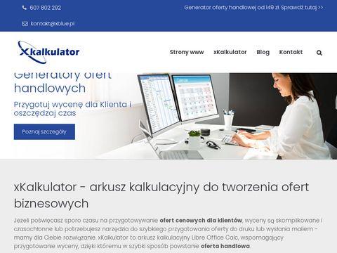 Xblue.pl szablon oferty