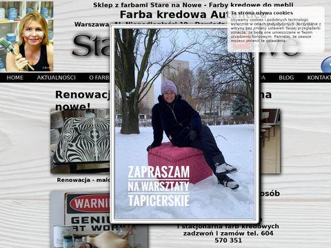 Starenanowe.pl renowacja mebli w Warszawie