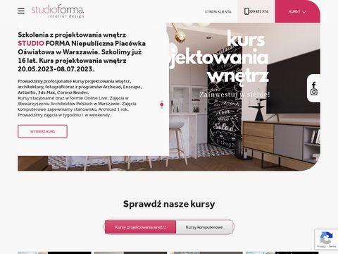 Studio-forma.edu.pl kurs projektowania wnętrz