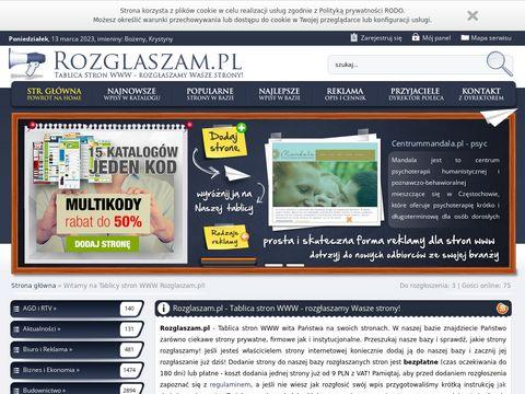Rozglaszam.pl wasze strony