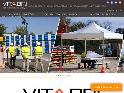 Vitabri.pl namioty z nadrukiem