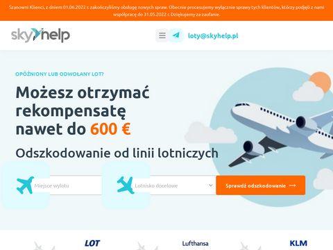 Skyhelp.pl odszkodowanie za opóżnione loty