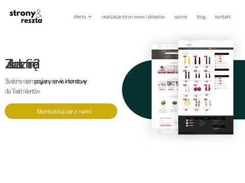 Stronyireszta.pl tworzenie sklepów internetowych