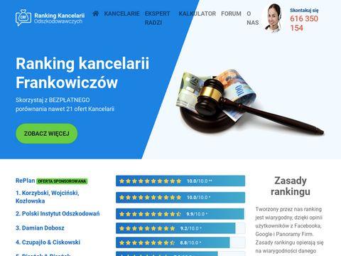 Rankingkancelariiodszkodowawczych.com.pl