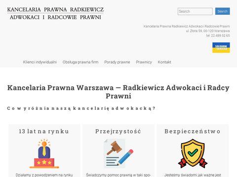 Radkiewicz.net.pl adwokat rozwodowy