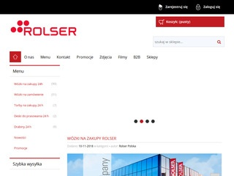 Rolsersklep.pl nowoczesne wózki na zakupy