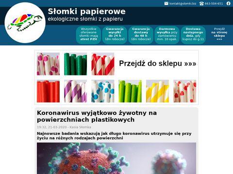 Webinspire słomki z papieru do napojów